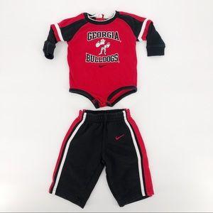 Nike 6-9 Mo 2 Piece - UGA Bulldogs Outfit